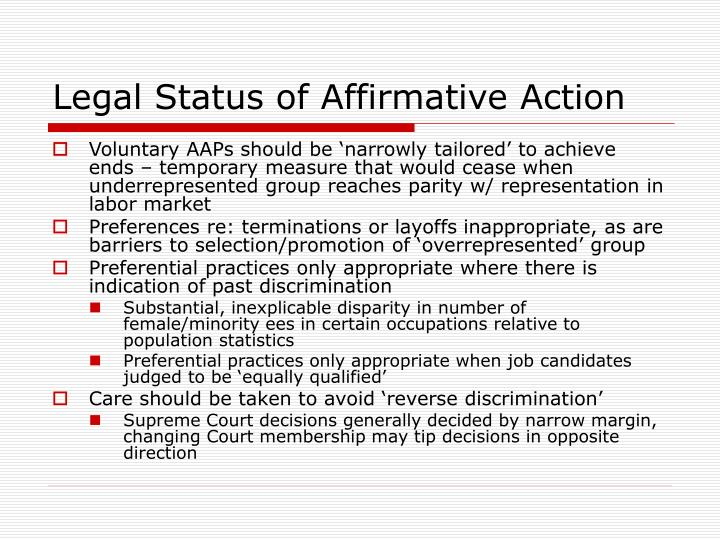 a debate of whether affirmative action is reverse discrimination Debate: affirmative action from debatepedia jump to laws should be race-blind to counter discrimination: because affirmative action descriminates against non.