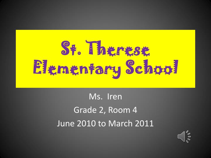 st therese elementary school
