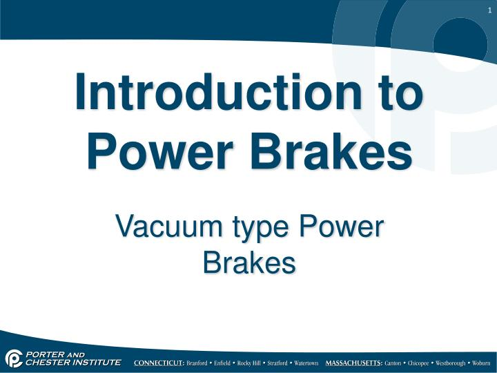 introduction to power brakes n.