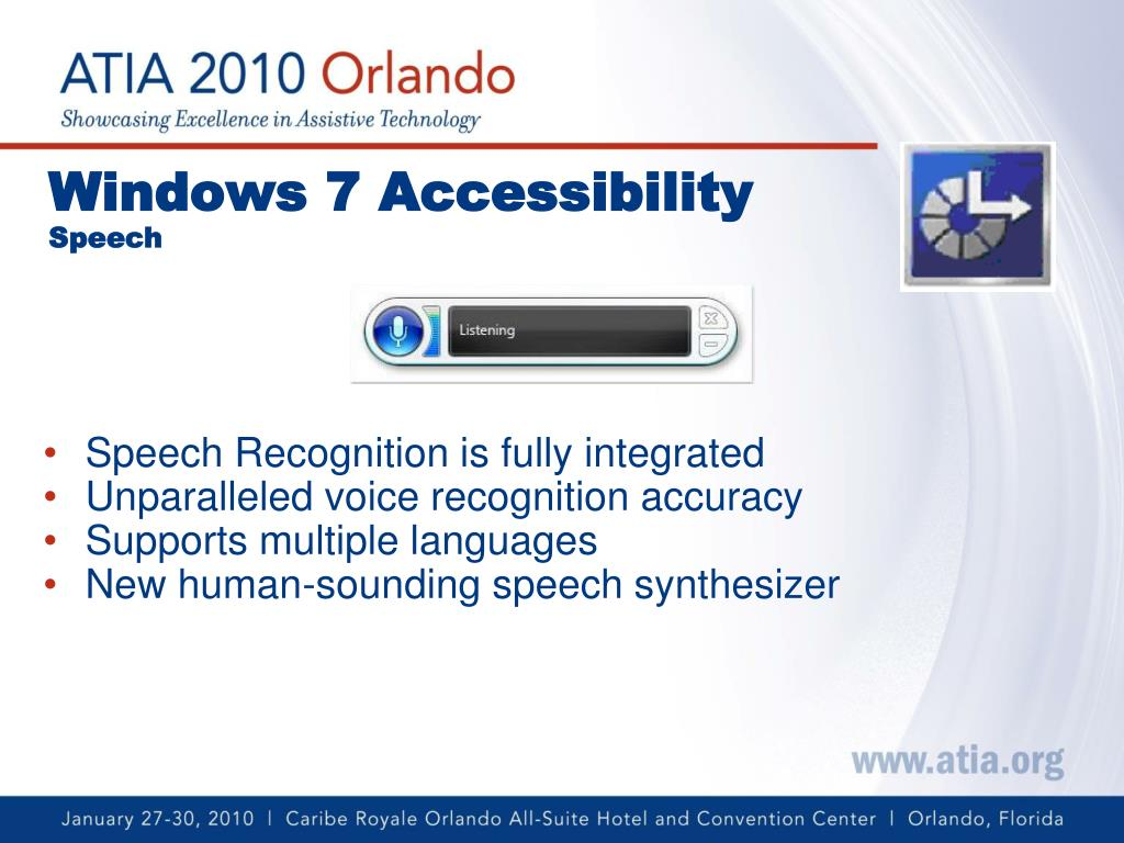 PPT - Microsoft Windows 7 Accessibility PowerPoint