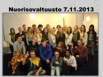 nuorisovaltuusto 7 11 2013