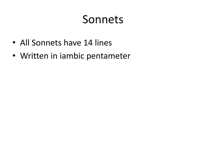Sonnets1