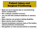 patient injury and surgical positioning