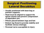 surgical positioning lateral decubitus1