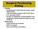 surgical positioning sitting