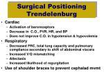 surgical positioning trendelenburg