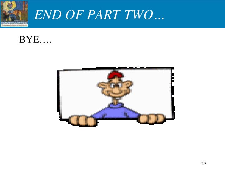 END OF PART TWO…