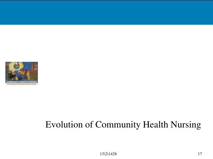 Evolution of Community Health Nursing