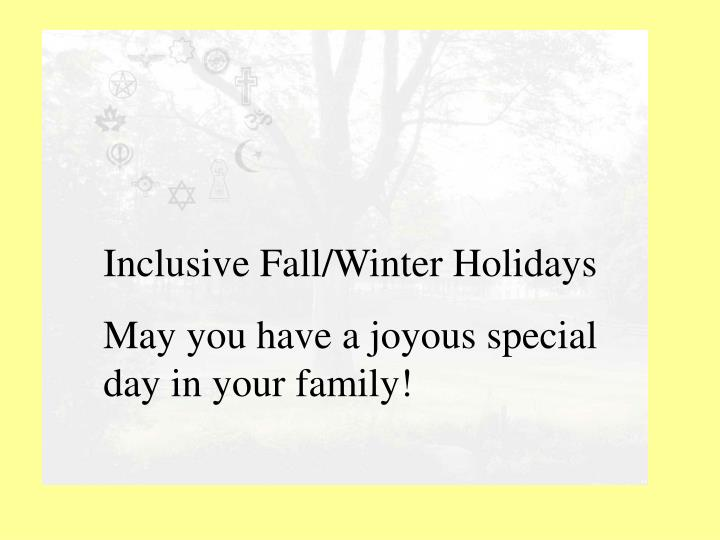 inclusive holiday celebrations n.