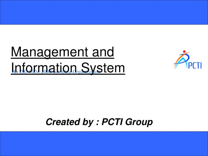 management and information system n.