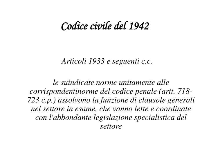 Codice civile del 1942