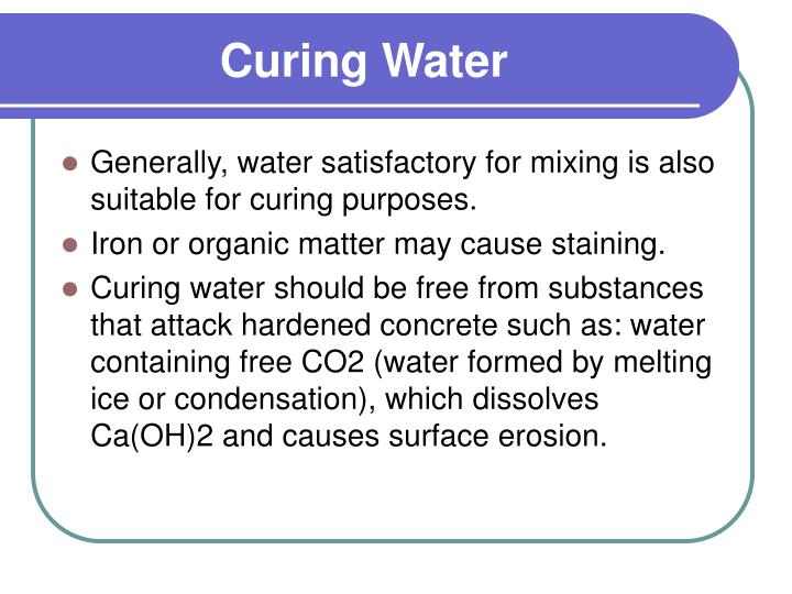 Curing Water