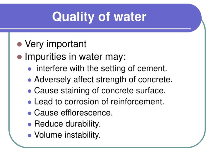 Quality of water1