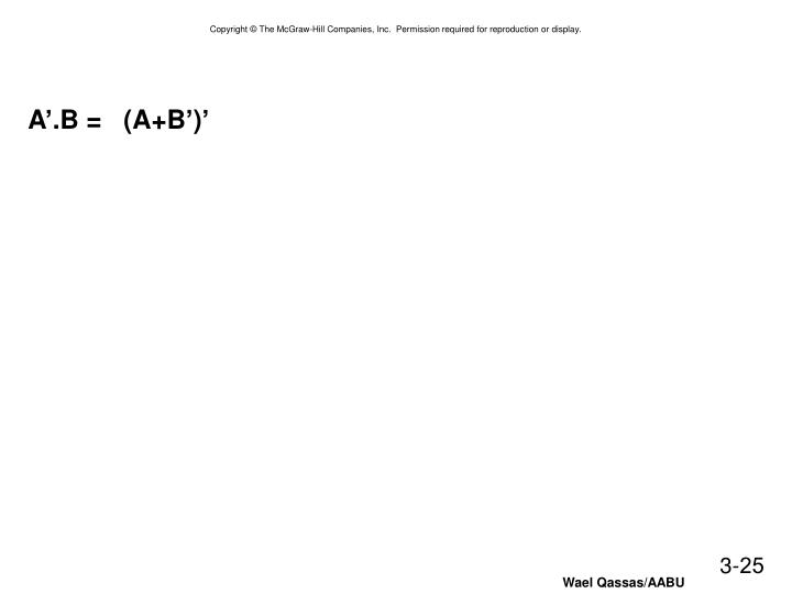 A'.B =   (A+B')'