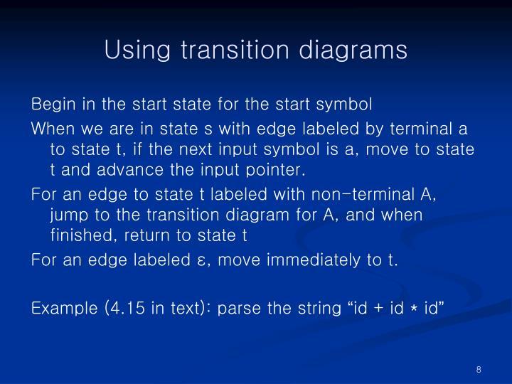 Using transition diagrams