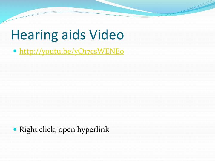 Hearing aids Video