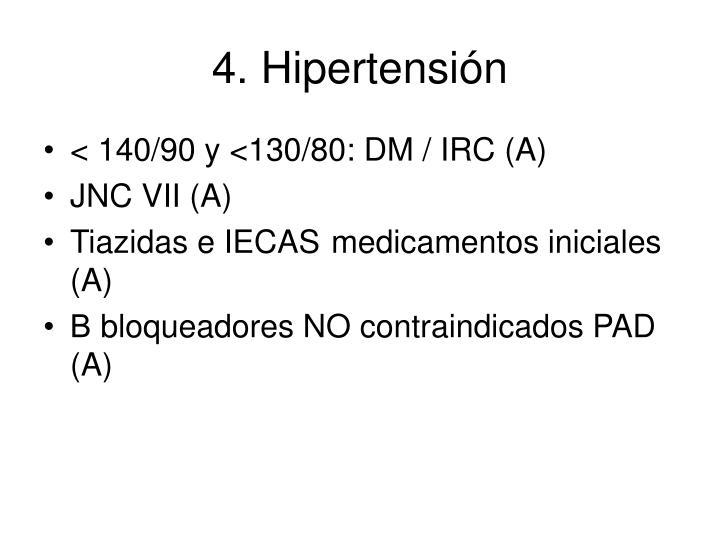 4. Hipertensión
