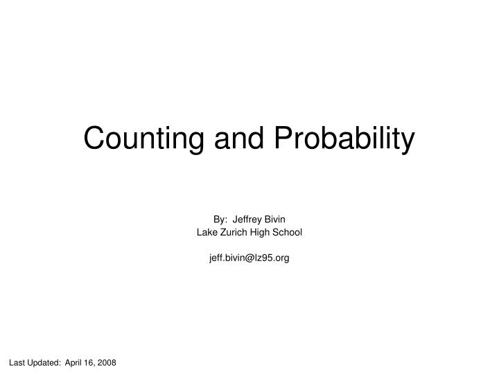 counting and probability n.
