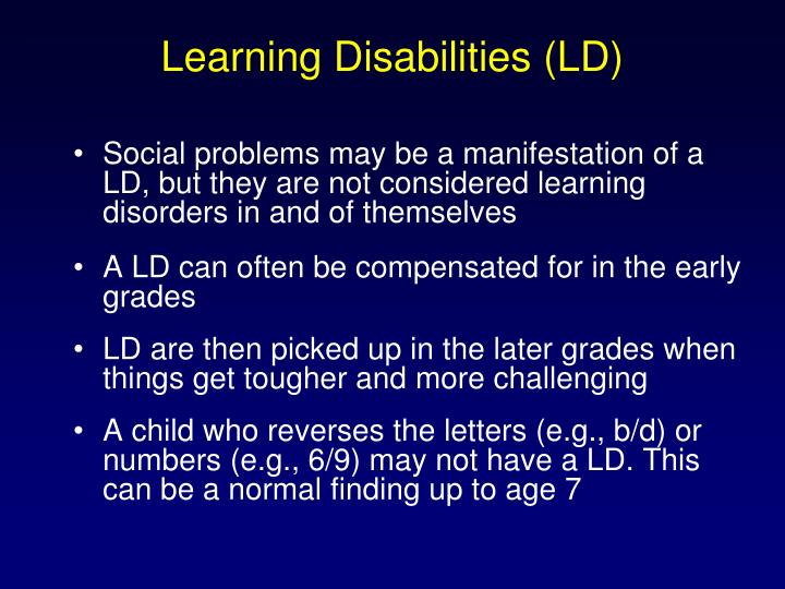 Learning Disabilities (LD)
