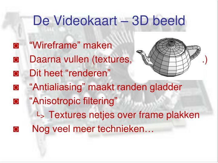 De Videokaart – 3D beeld