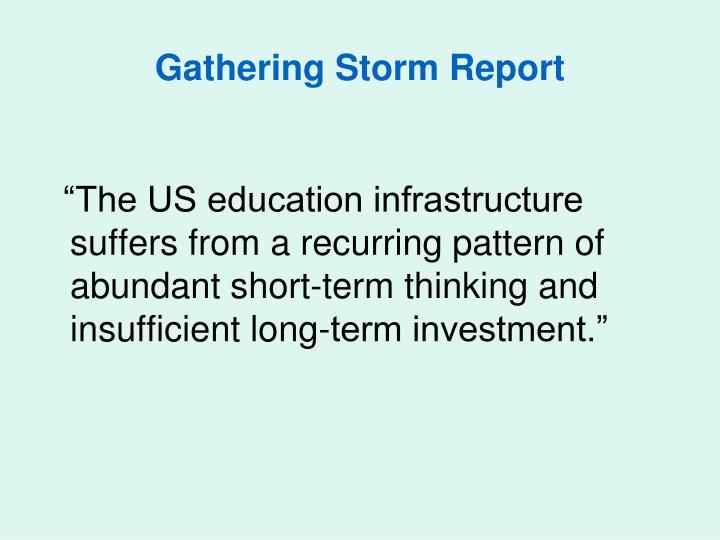 Gathering Storm Report