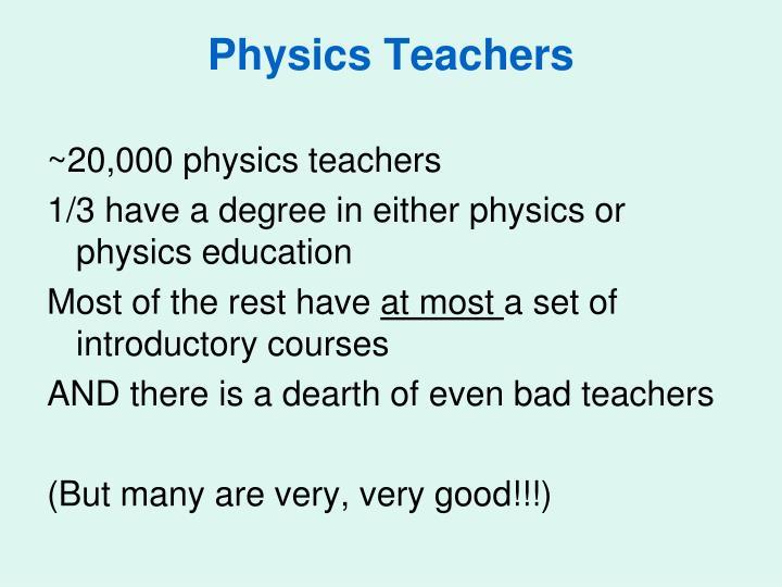 Physics Teachers