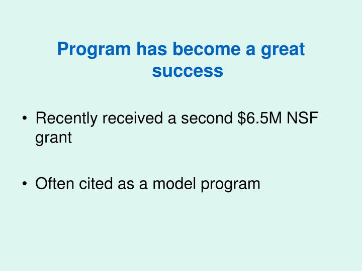 Program has become a great success