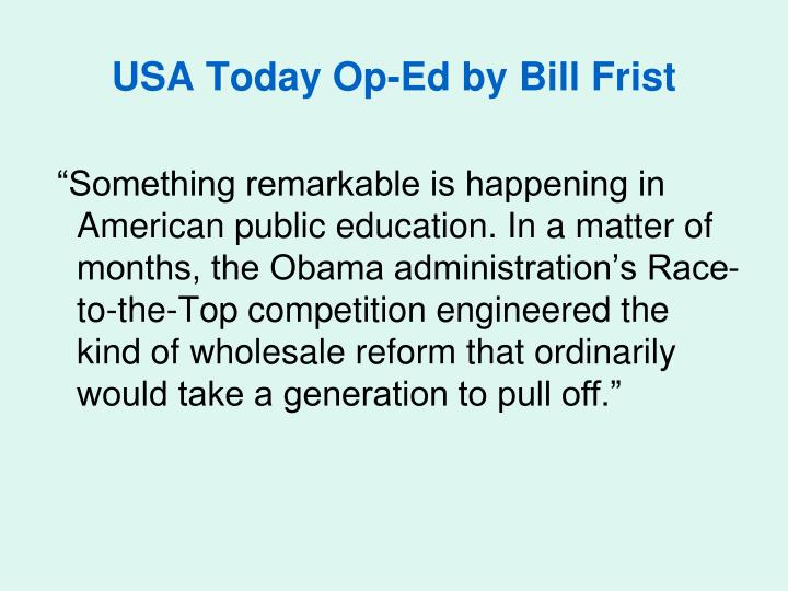 USA Today Op-Ed by Bill