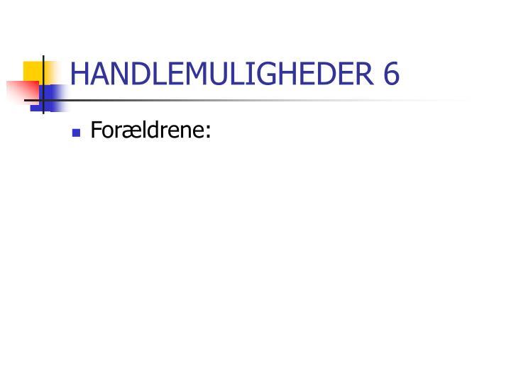 HANDLEMULIGHEDER 6