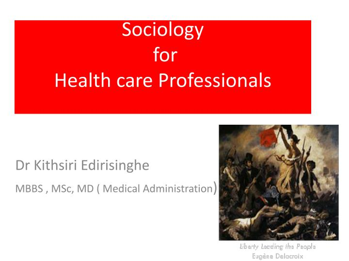 sociology for health care professionals n.