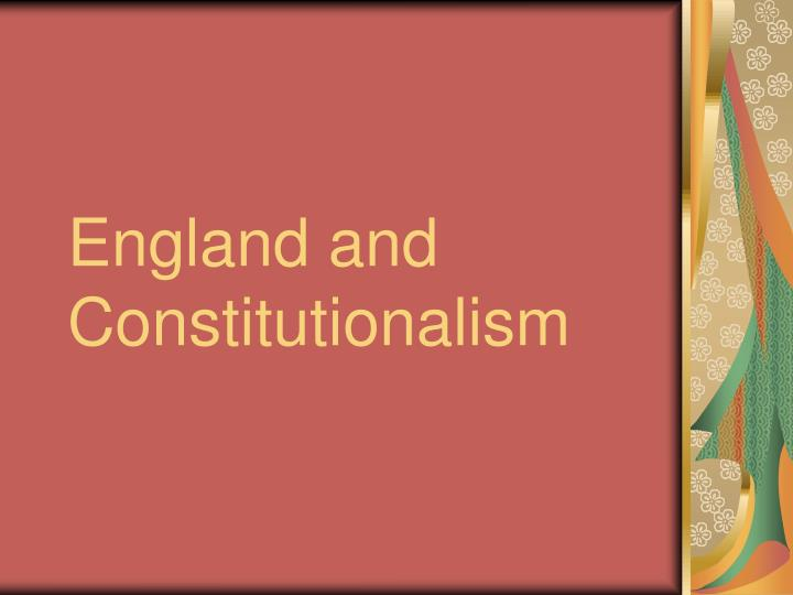 england and constitutionalism n.