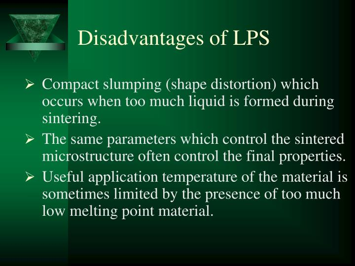 Disadvantages of LPS