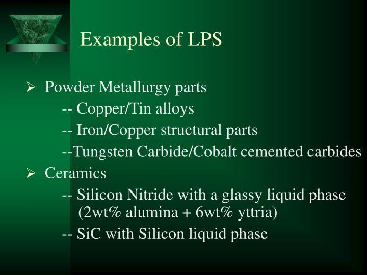 Examples of LPS