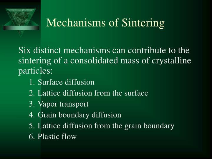 Mechanisms of Sintering