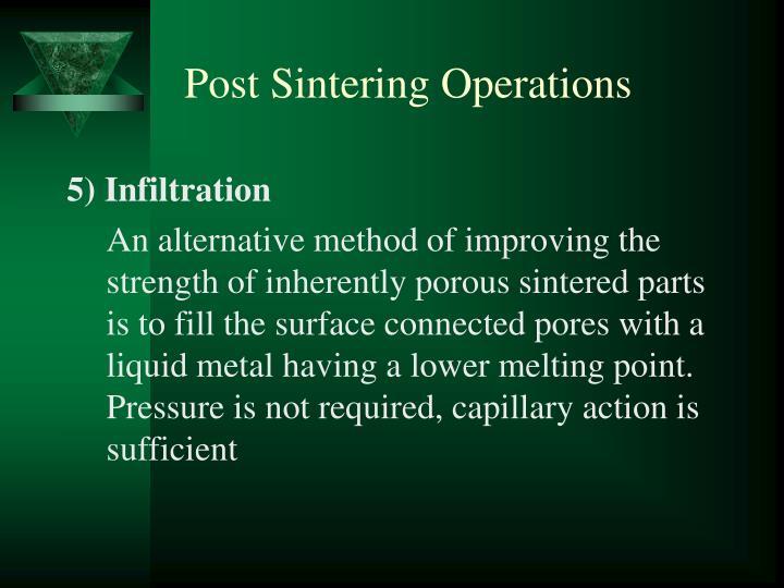 Post Sintering Operations