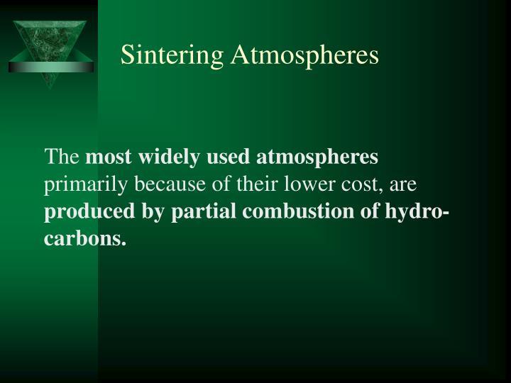Sintering Atmospheres