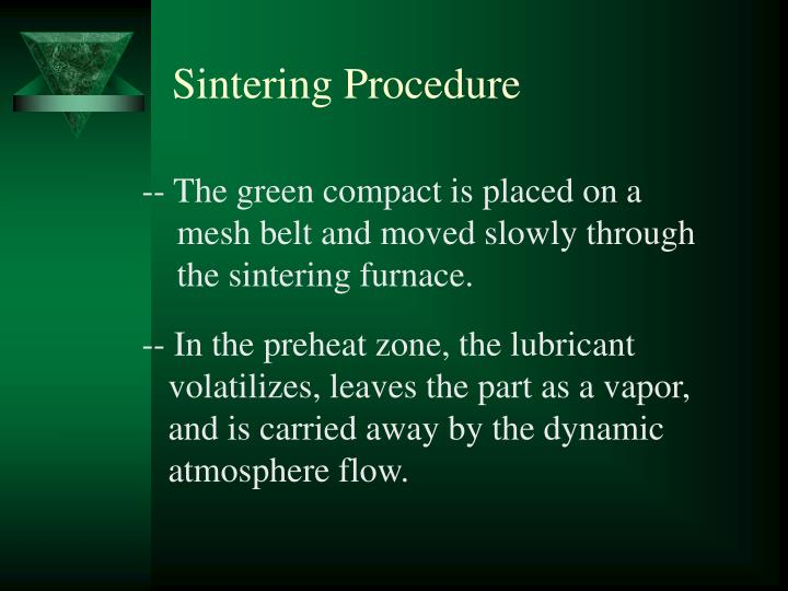 Sintering Procedure