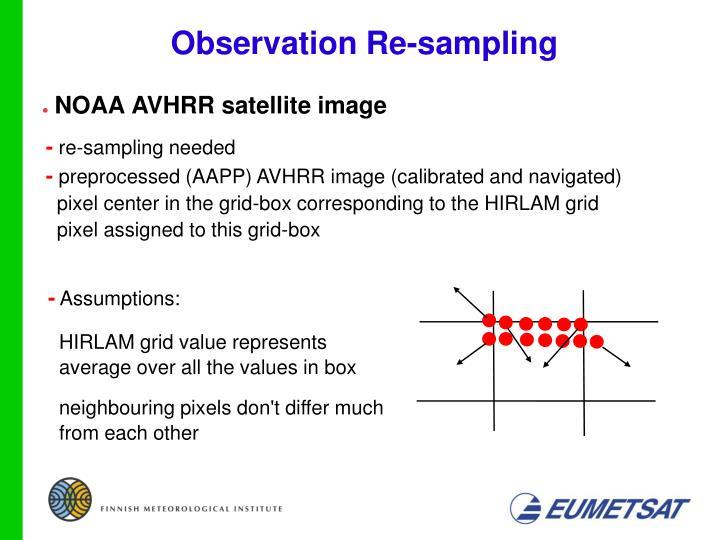 Observation Re-sampling