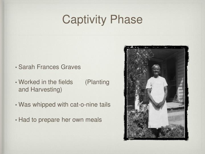 Captivity phase