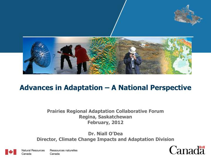 Advances in adaptation a national perspective