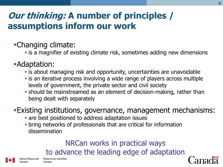 Our thinking: