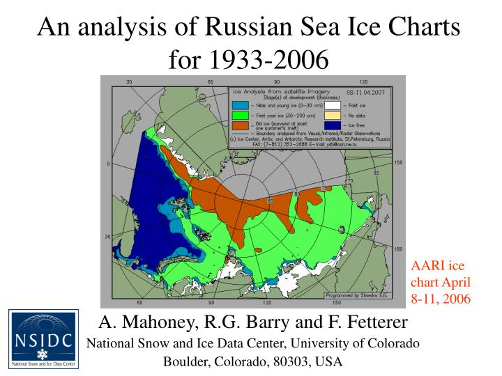 An analysis of russian sea ice charts for 1933 2006