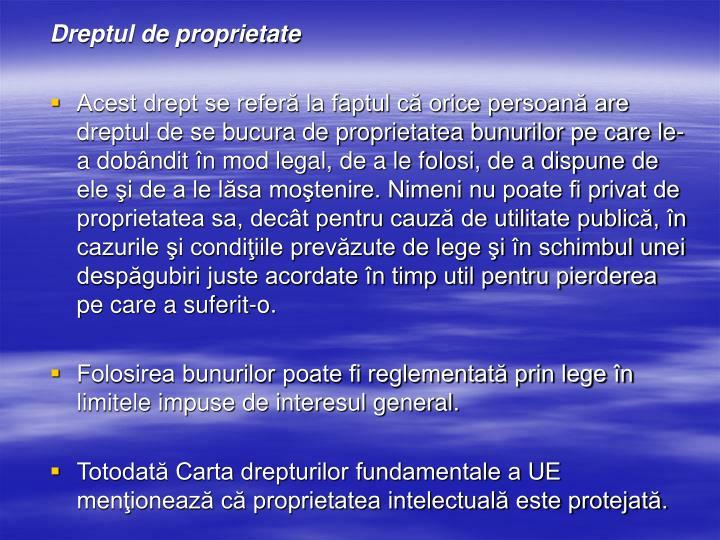 Dreptul de proprietate