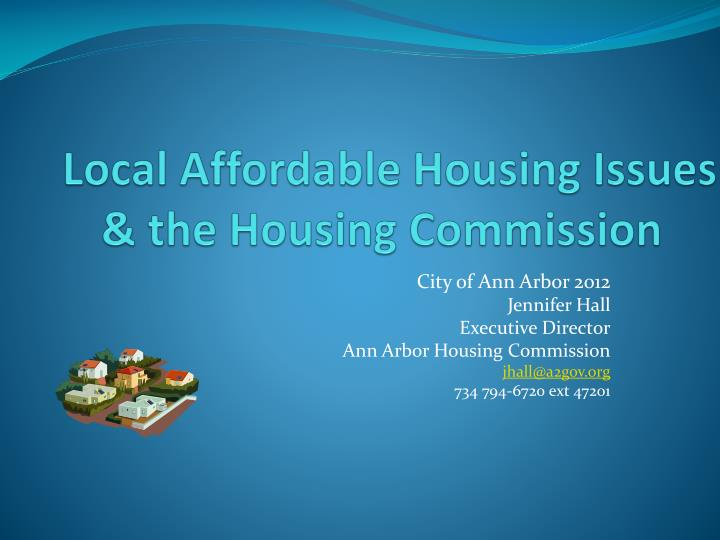 local affordable housing issues the housing commission n.
