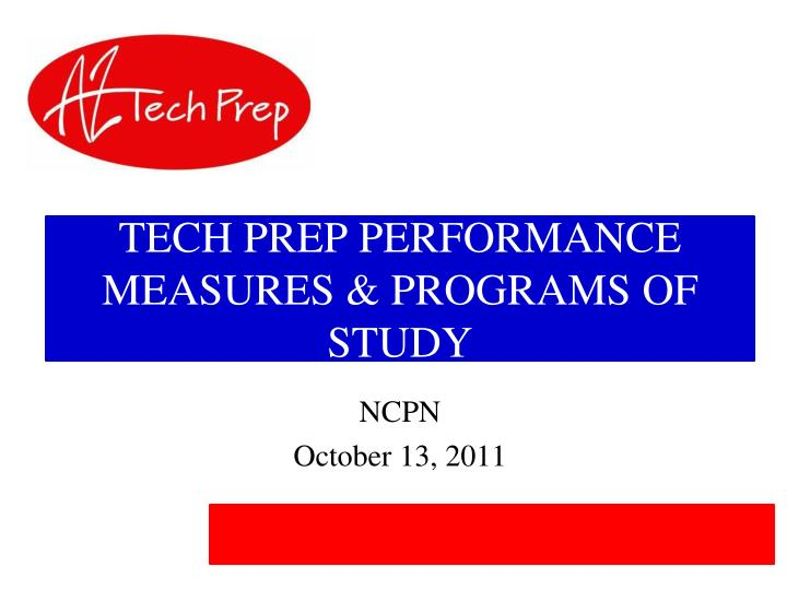 tech prep performance measures programs of study n.