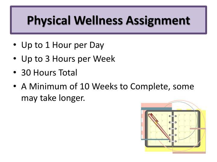 Physical Wellness Assignment