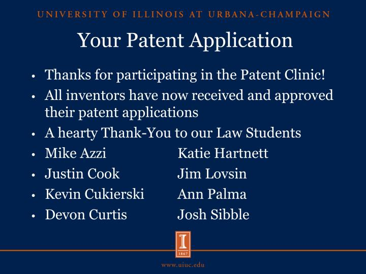 Your patent application