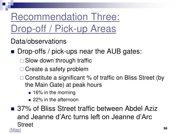 Recommendation Three: