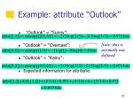 example attribute outlook