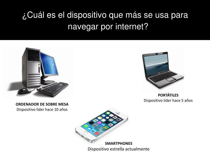 ¿Cuál es el dispositivo que más se usa para navegar por internet?
